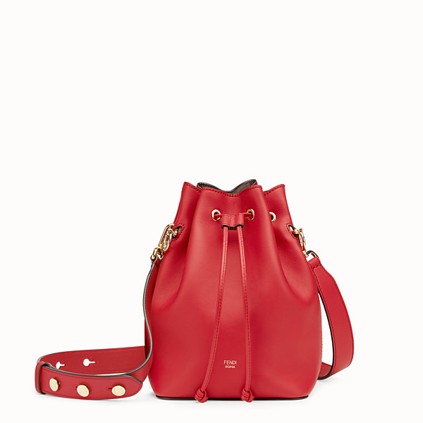 FENDI MON TRESOR - Red leather mini-bag - view 1 small thumbnail