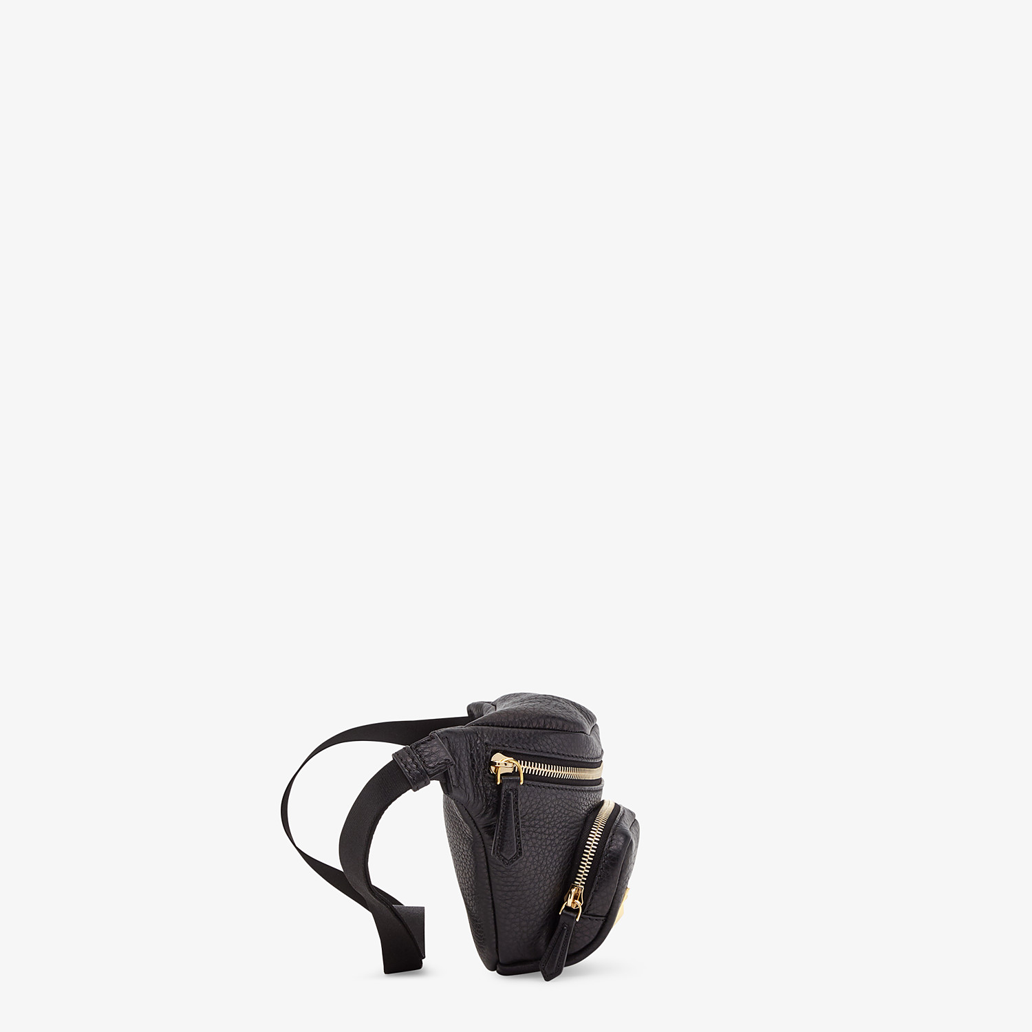 FENDI BELT BAG - Black Romano leather belt bag - view 2 detail
