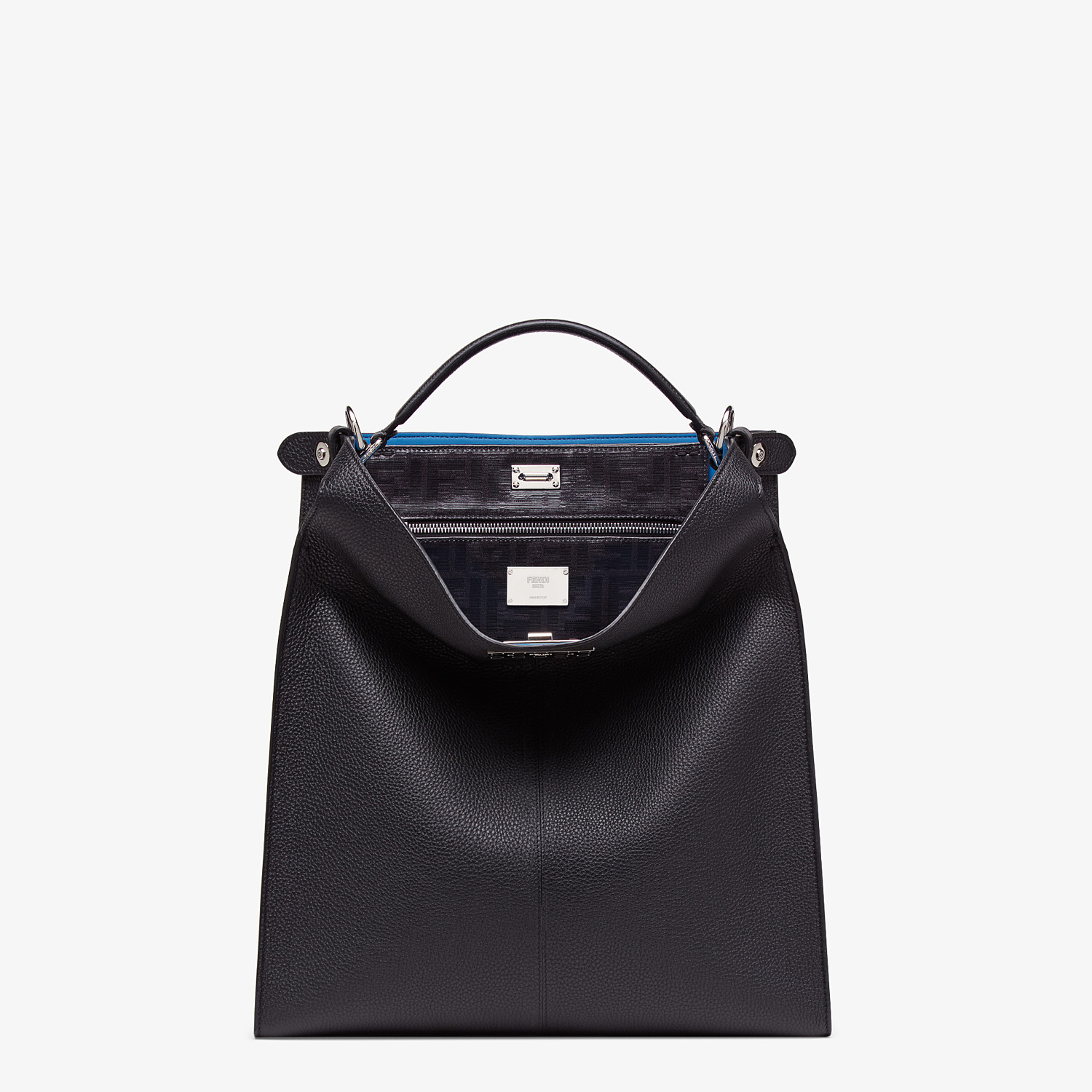FENDI PEEKABOO X-LITE FIT - Black, calf leather bag - view 2 detail