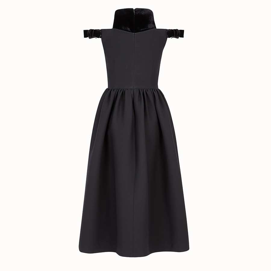 FENDI DRESS - Black silk and wool dress - view 2 detail