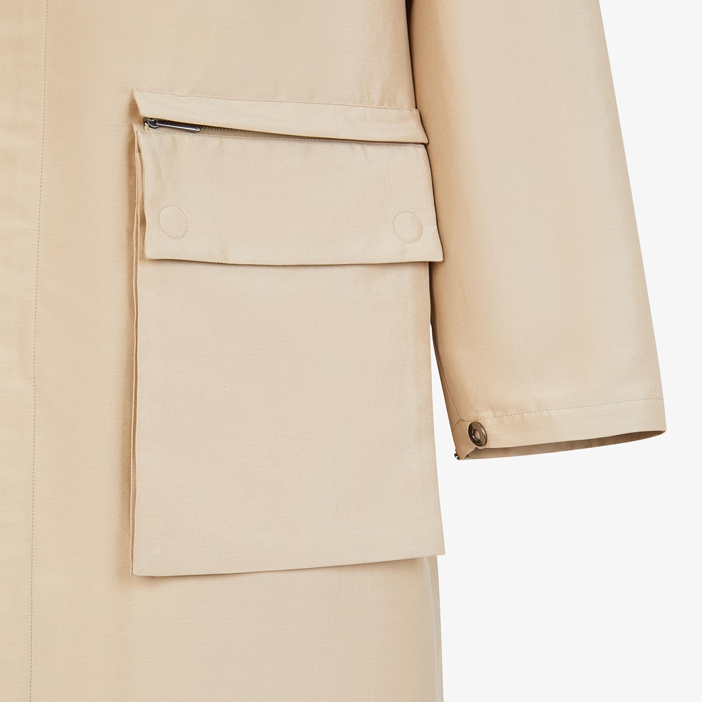 FENDI PARKA - Beige cotton overcoat - view 3 detail