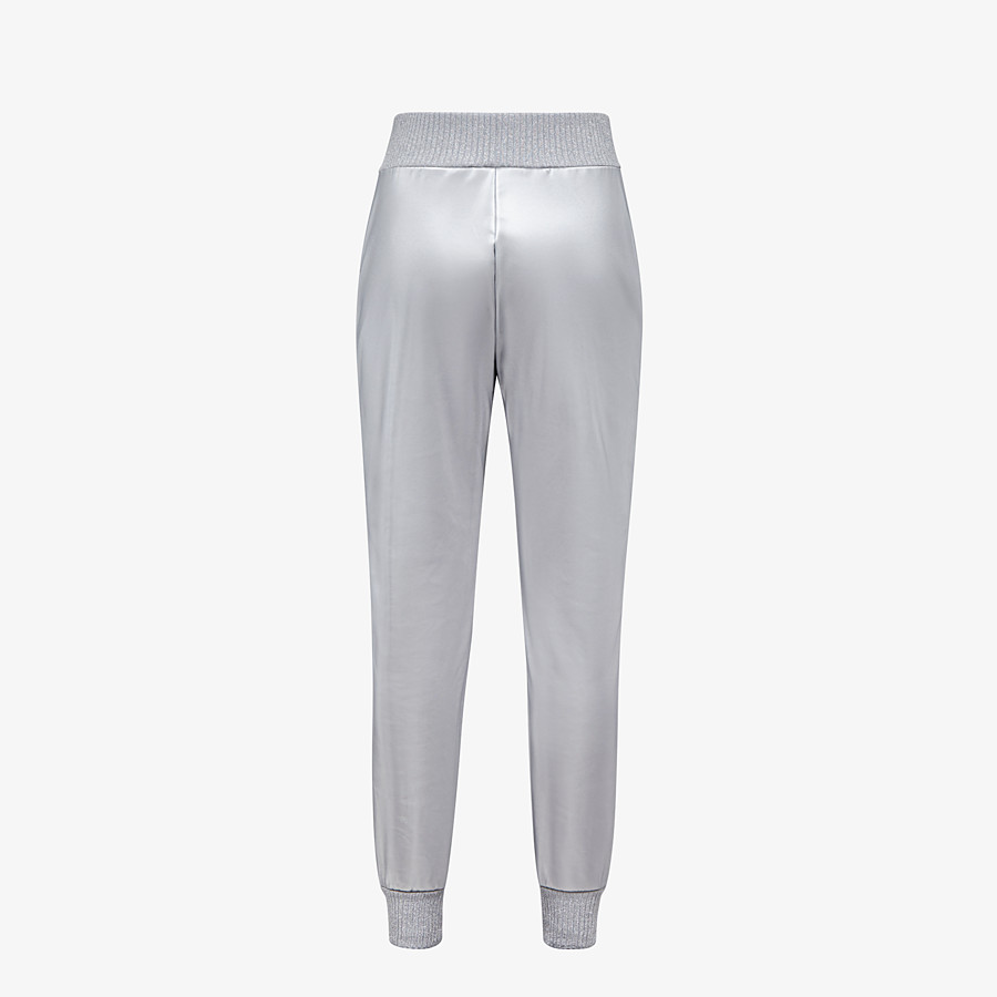 FENDI pants - Silver tech fabric jogging pants - view 2 detail
