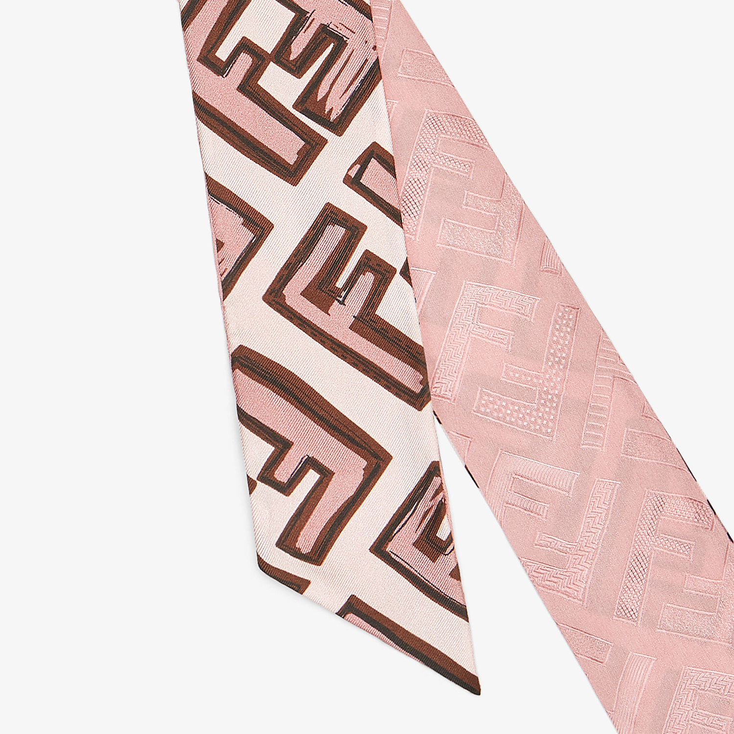 FENDI WRAPPY - Pink silk bandeau - view 2 detail