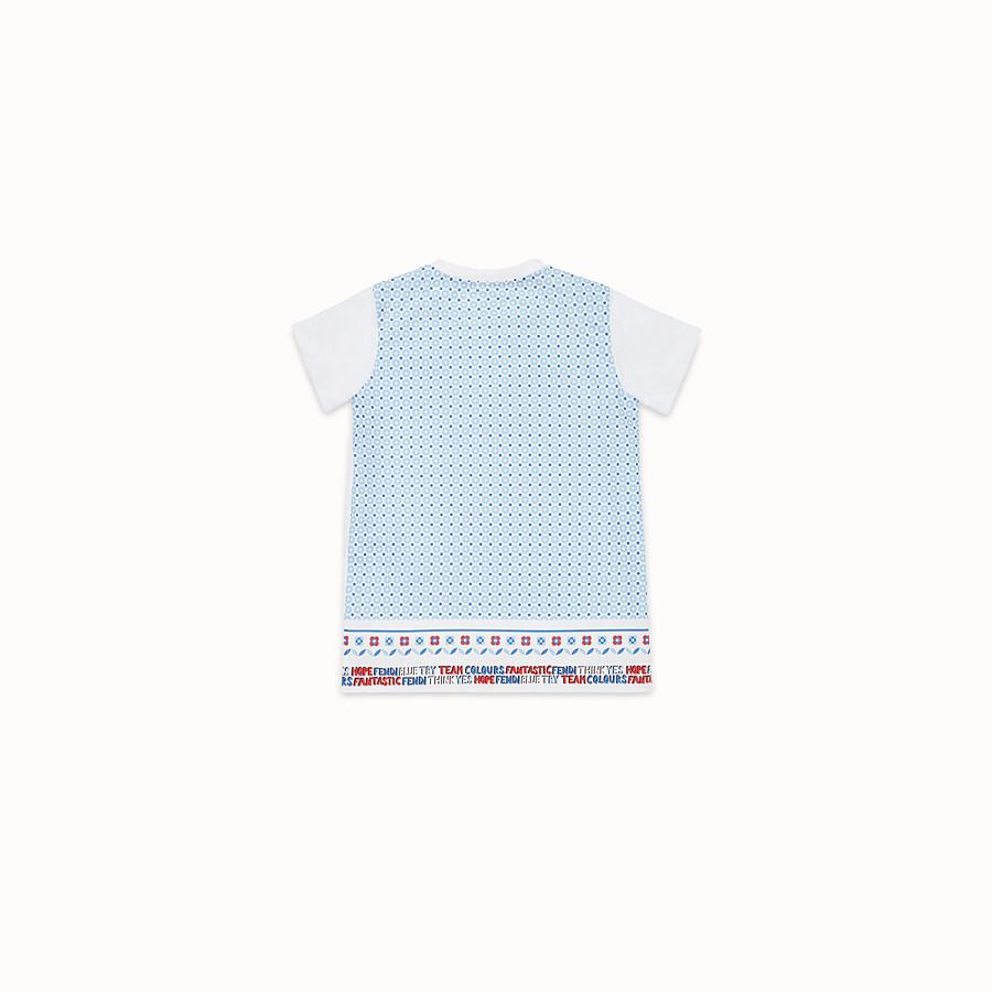 FENDI CAMISETA - Camiseta de punto blanco y azul celeste - view 2 detail