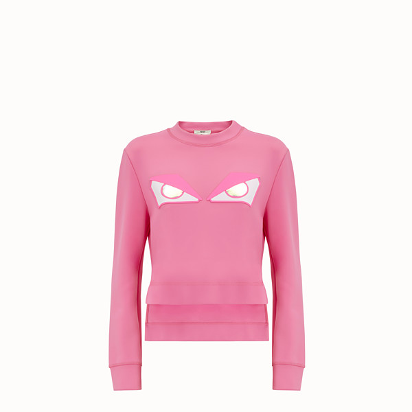 FENDI SWEATSHIRT - Pink fabric sweatshirt - view 1 small thumbnail