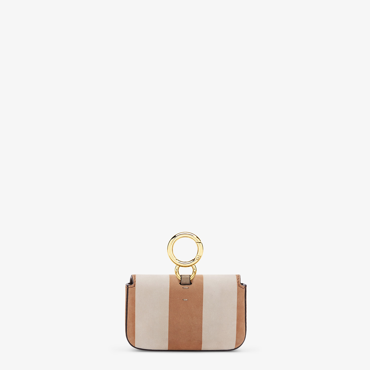 FENDI NANO BAGUETTE - Beige nubuck leather charm - view 4 detail