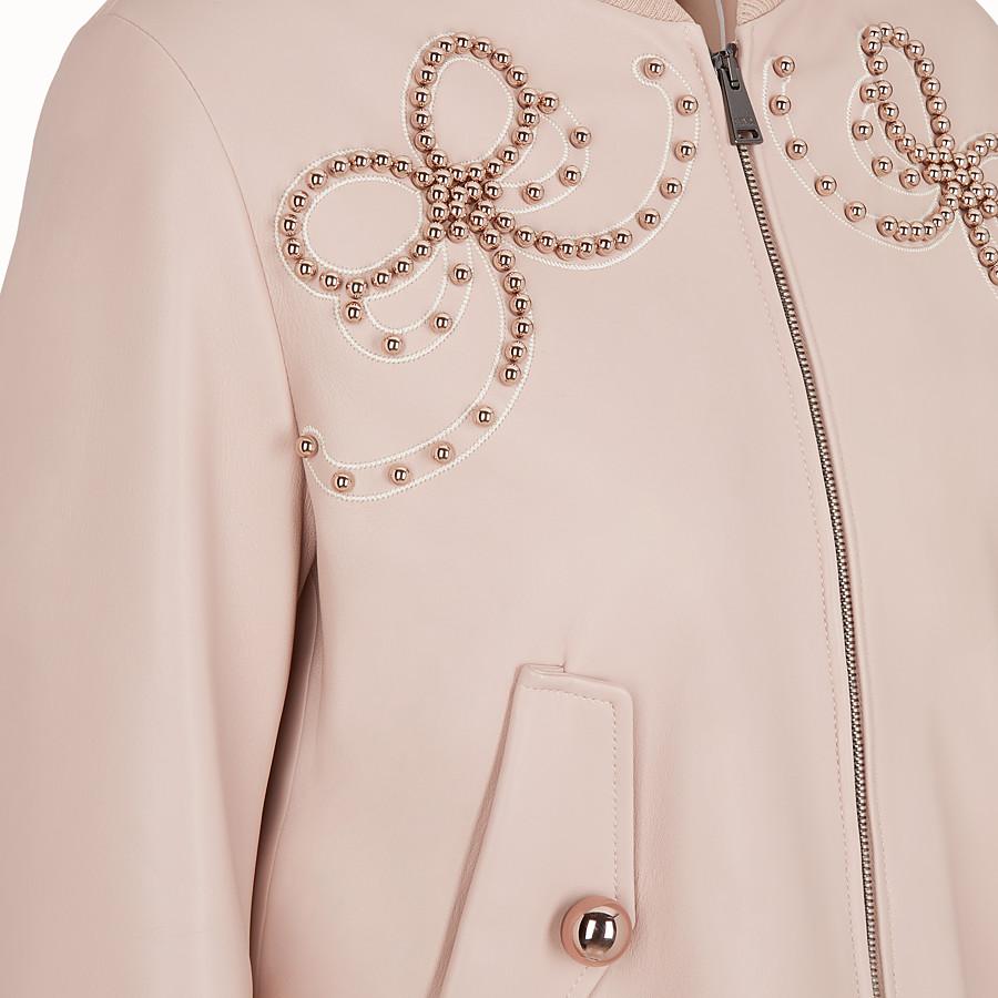 FENDI 外套 - 粉紅色皮革外套 - view 3 detail