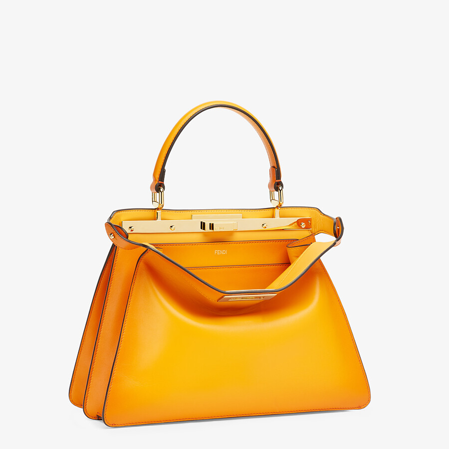 FENDI PEEKABOO ISEEU MEDIUM - Orange leather bag - view 4 detail