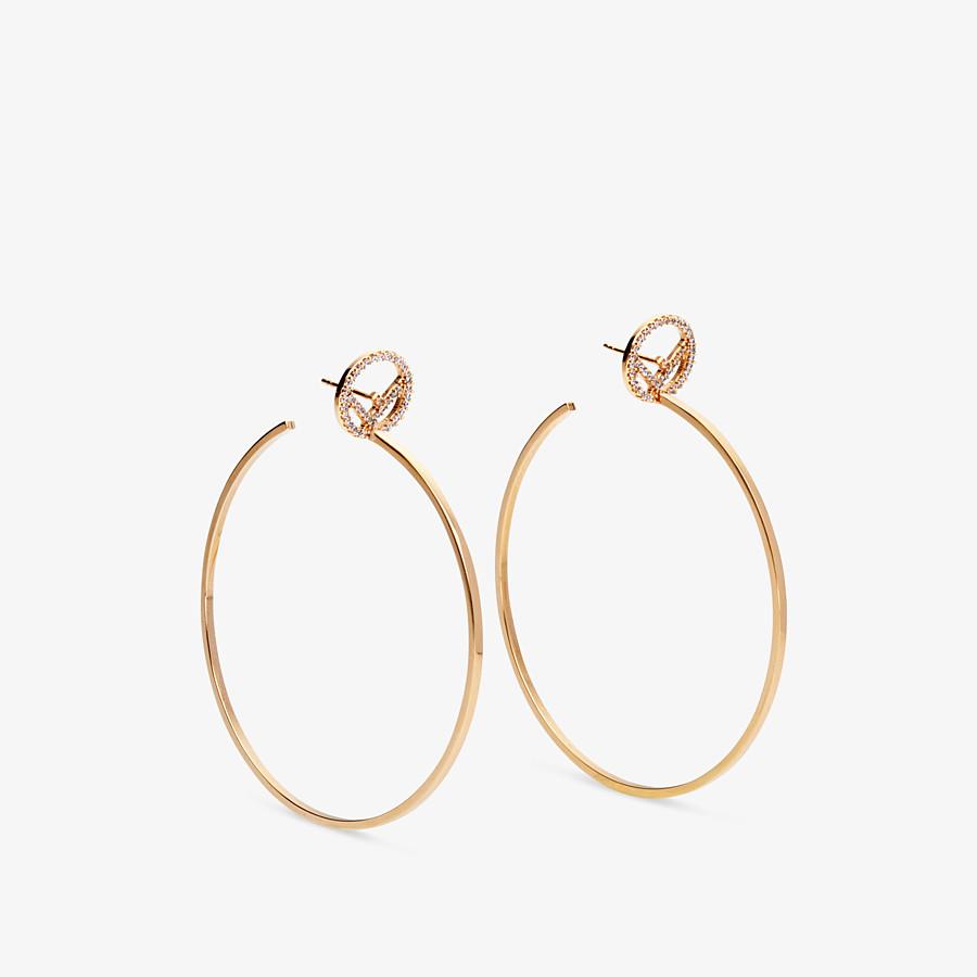 FENDI F IS FENDI EARRINGS - Gold-colour earrings - view 1 detail
