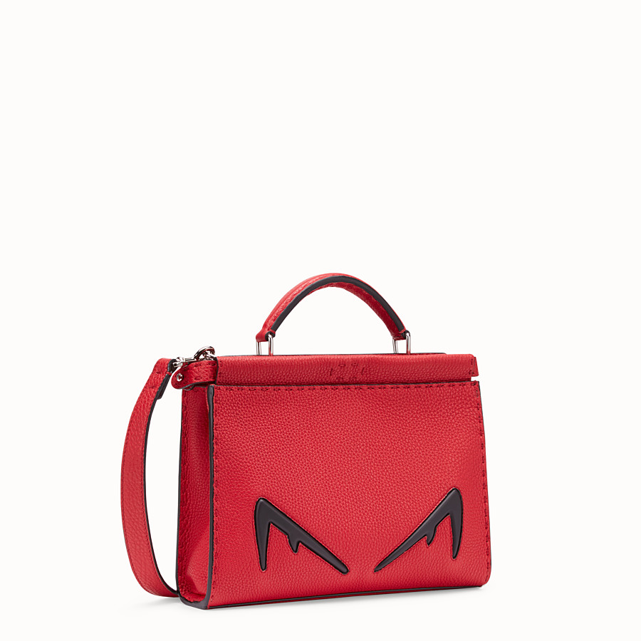 FENDI MINI PEEKABOO FIT - Red Romano leather bag - view 2 detail