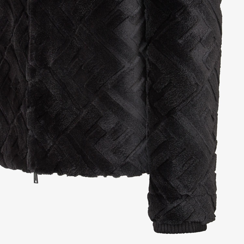 FENDI JACKET - Black mink jacket - view 3 detail