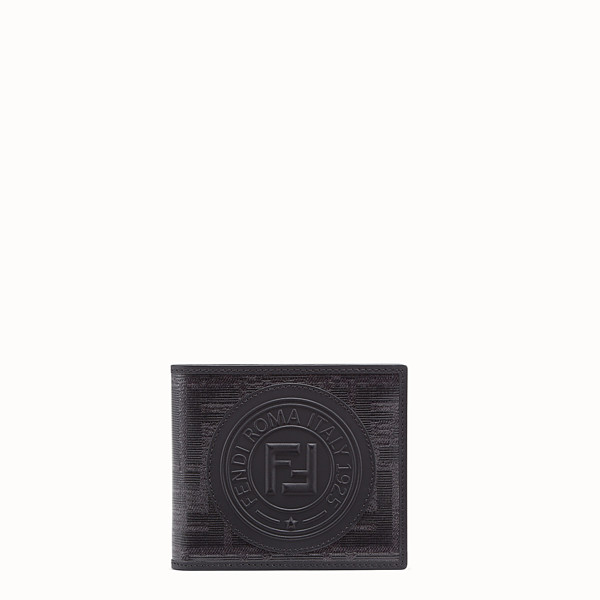 FENDI WALLET - Black fabric bi-fold - view 1 small thumbnail