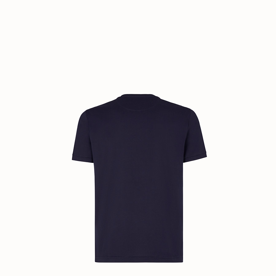 FENDI T-SHIRT - T-Shirt aus Jersey in Blau - view 2 detail