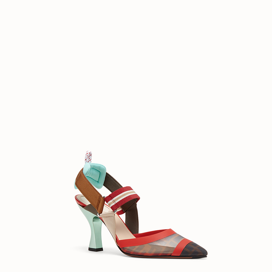 FENDI SLINGBACKS - Multicolor technical-mesh Colibrì - view 2 detail