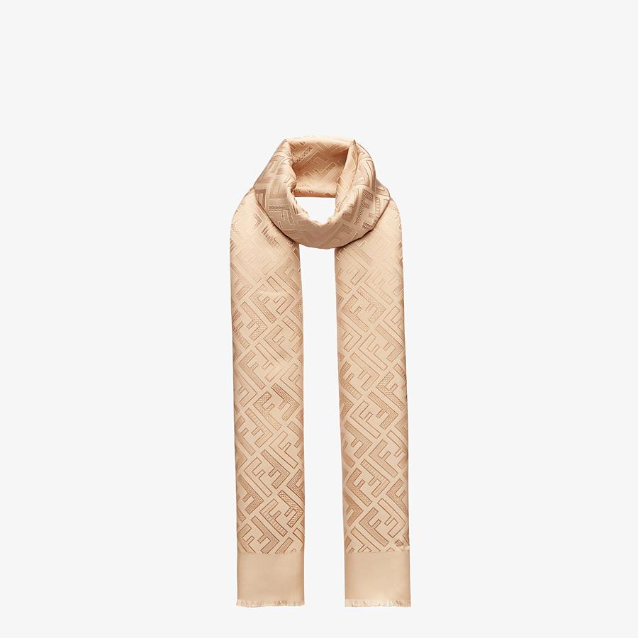 FENDI SIGNATURE STOLE - Beige silk stole - view 2 detail