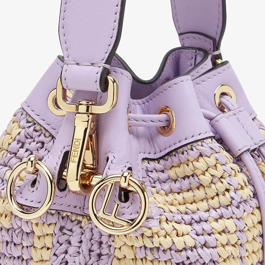 FENDI MON TRESOR - Lilac raffia mini-bag - view 6 detail