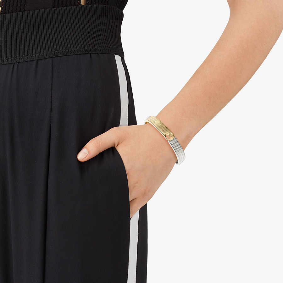 FENDI F IS FENDI BRACELET - Gold and palladium bracelet - view 2 detail