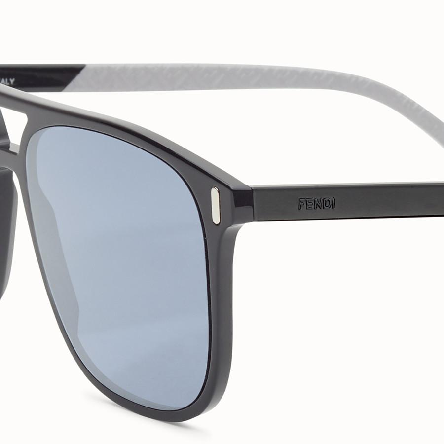 FENDI FENDI - Black and light grey sunglasses - view 3 detail
