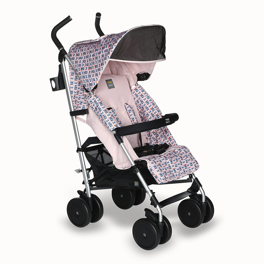 FENDI PUSHCHAIR - Pink stroller with monster pattern - view 2 detail