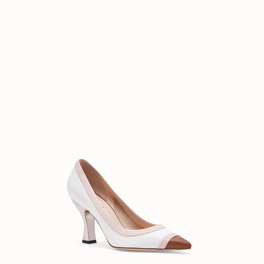FENDI COURT SHOES - White nappa leather court shoes. - view 2 detail