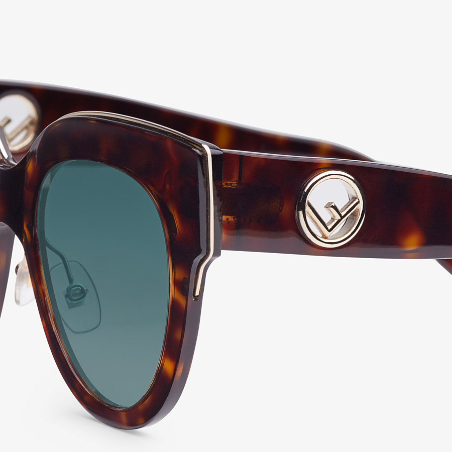 FENDI F IS FENDI - Havana FF sunglasses - view 3 detail