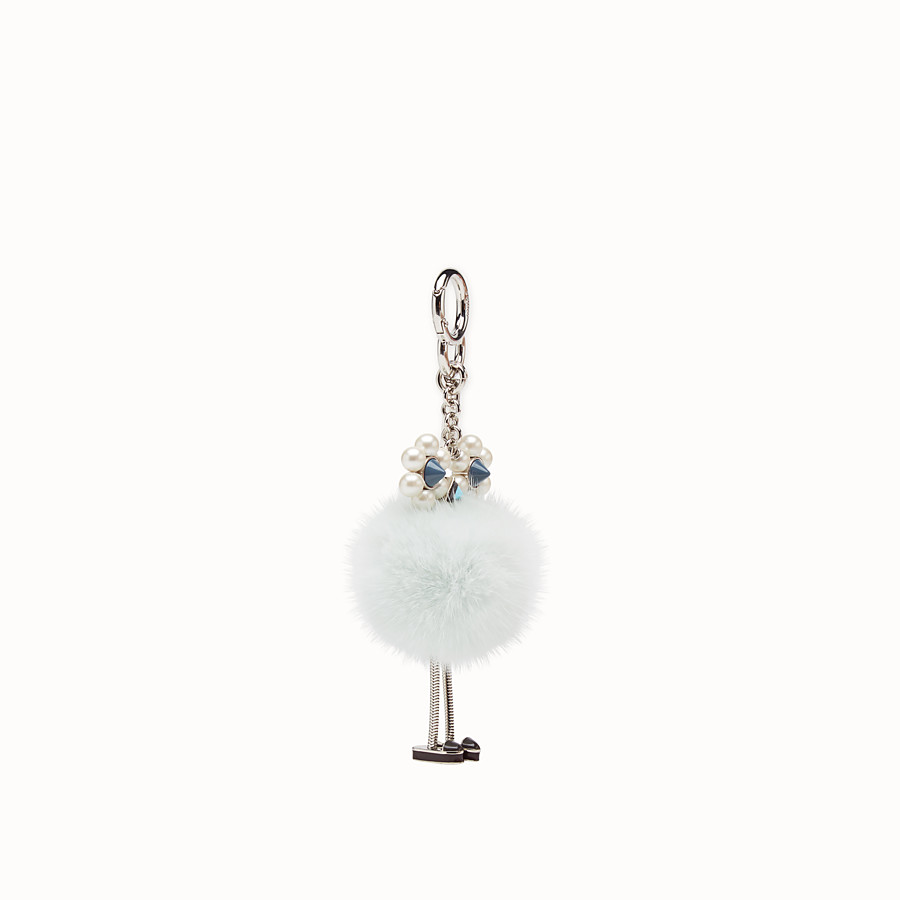 FENDI CHICK CHARM - Pale blue fur charm - view 1 detail