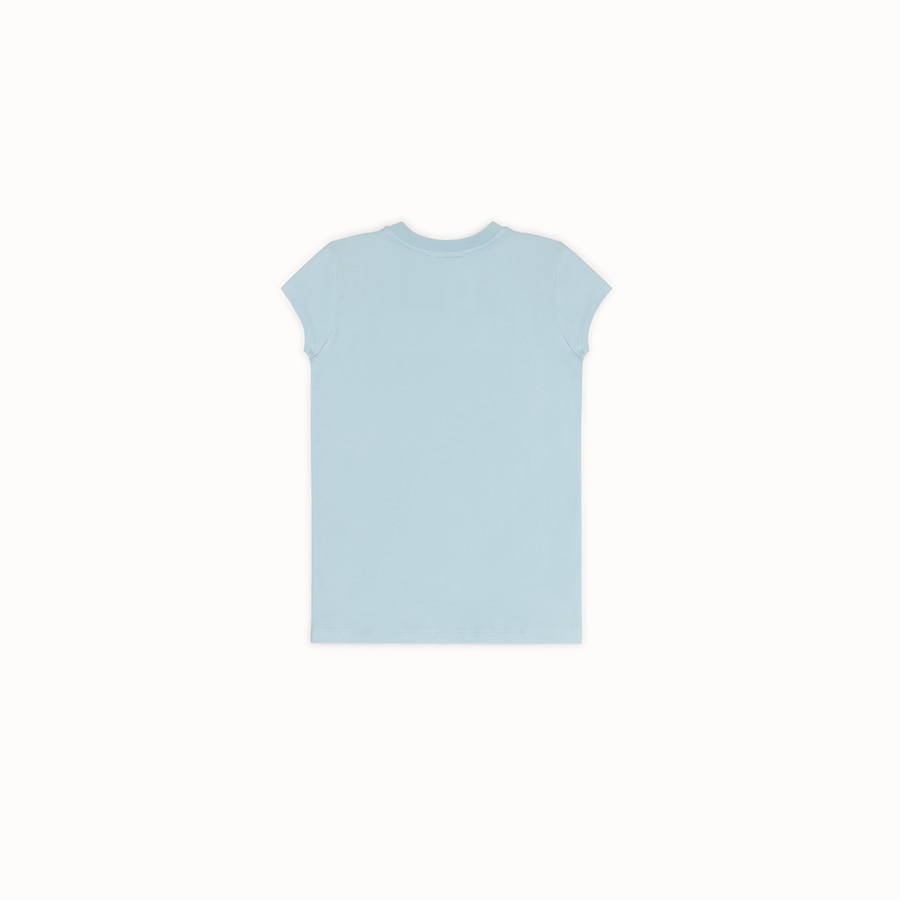 FENDI T-SHIRT - T-shirt en coton bleu clair - view 2 detail