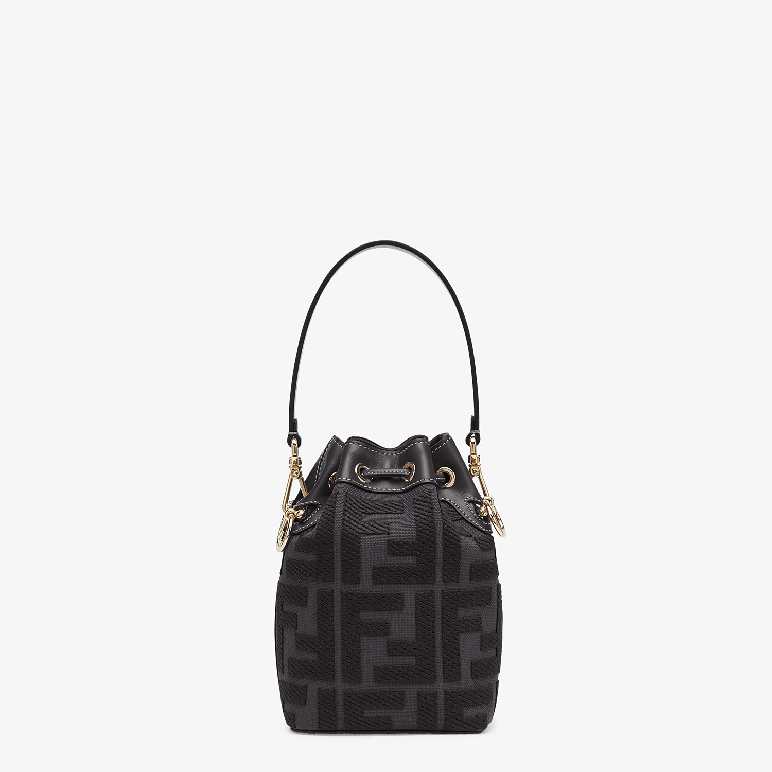 FENDI MON TRESOR - Black canvas mini-bag - view 4 detail
