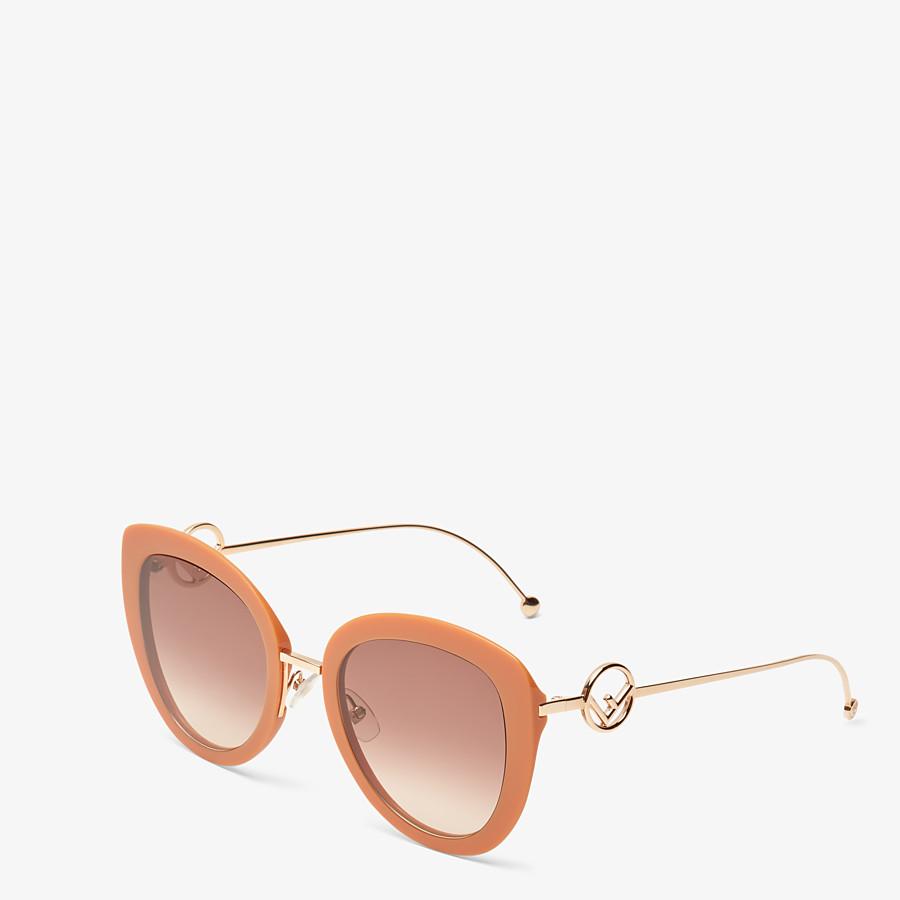 FENDI F IS FENDI - Orange acetate and metal sunglasses - view 2 detail
