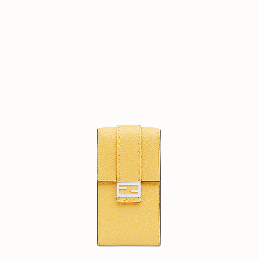 FENDI iPHONE X CASE - Yellow leather cover - view 1 detail