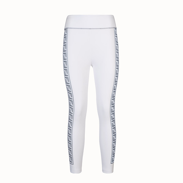 FENDI LEGGINGS - White stretch fabric leggings - view 1 small thumbnail