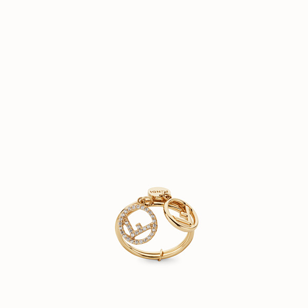 FENDI F IS FENDI RING - Gold colour ring - view 1 small thumbnail