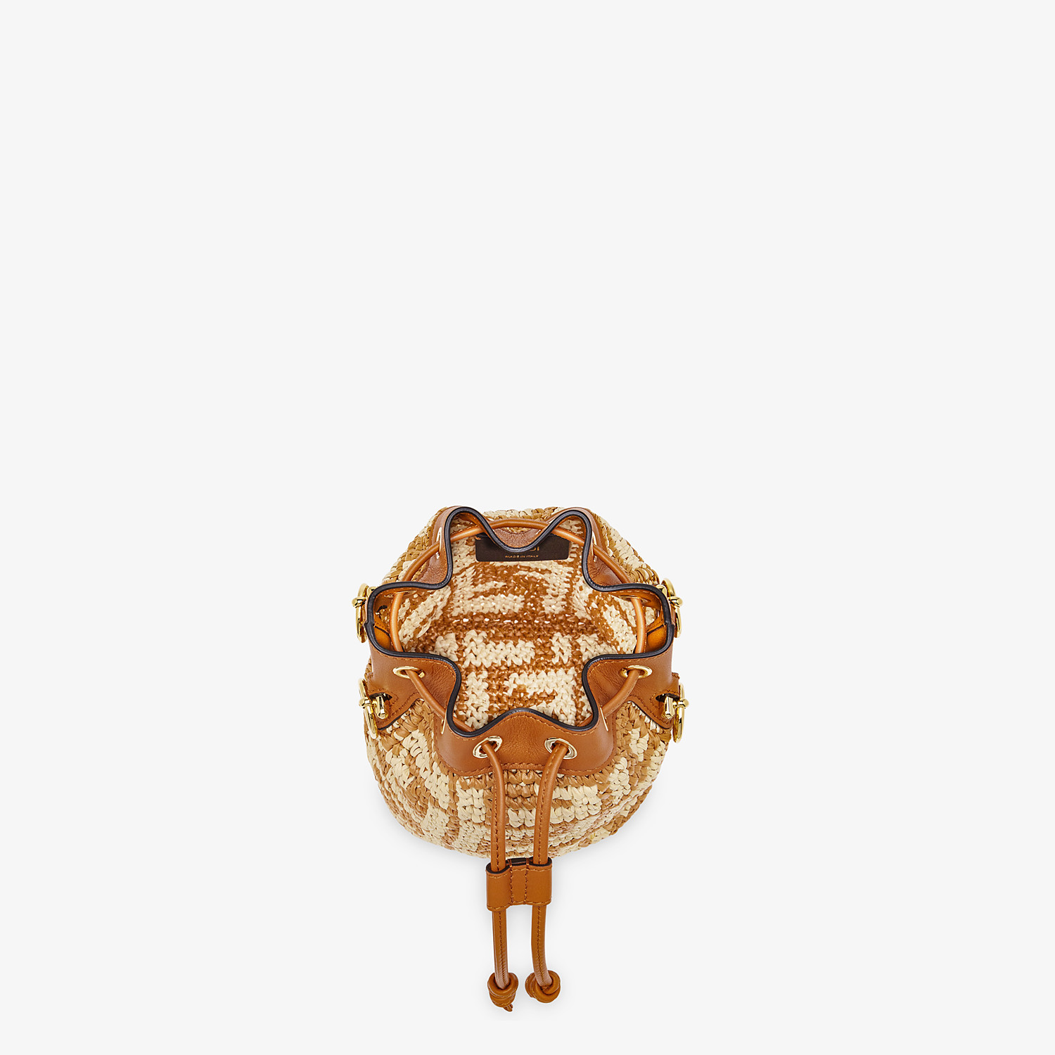 FENDI MON TRESOR - Brown raffia mini-bag - view 5 detail