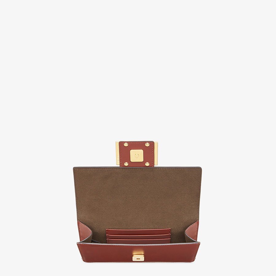 FENDI FLAT BAGUETTE - Brown leather mini-bag - view 5 detail