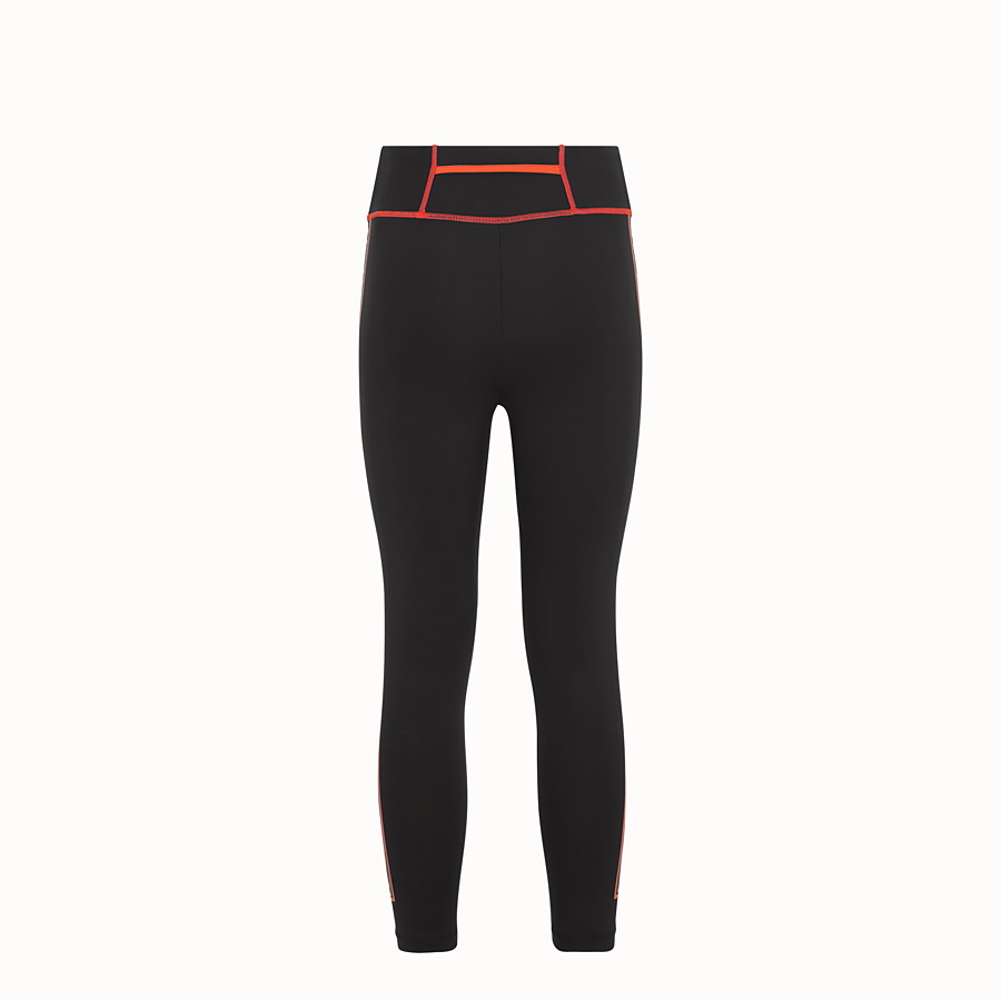 FENDI LEGGINGS - Black stretch fabric trousers - view 2 detail
