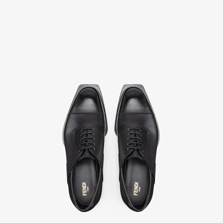 FENDI LACE-UPS - Black leather lace-up - view 4 detail