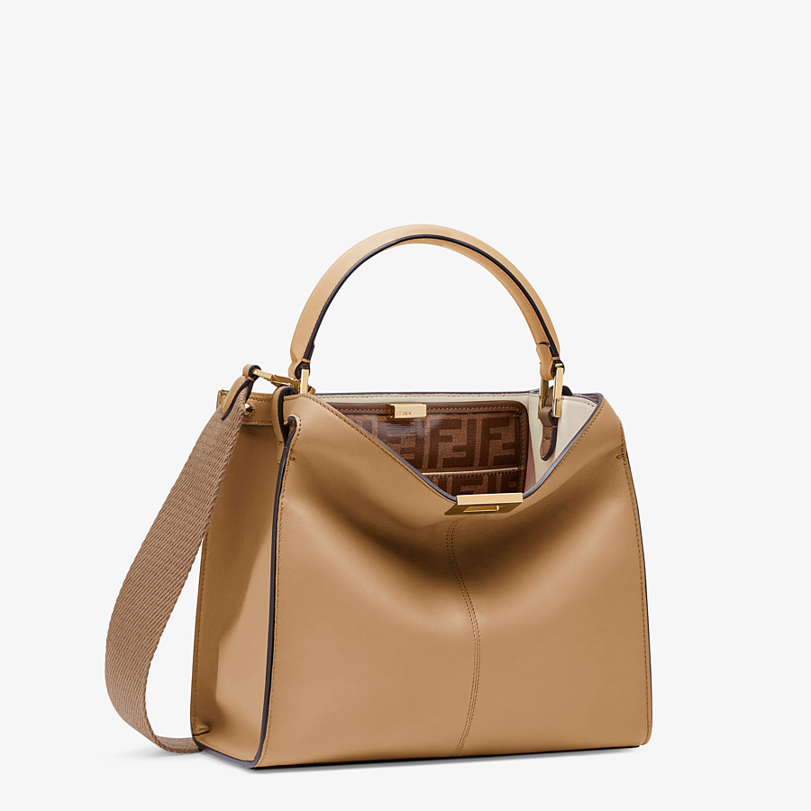 FENDI PEEKABOO X-LITE MEDIUM - Tasche aus Leder in Beige - view 4 detail