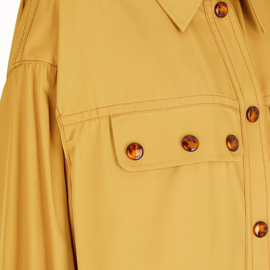 FENDI OVERCOAT - Brown nylon overcoat - view 3 detail