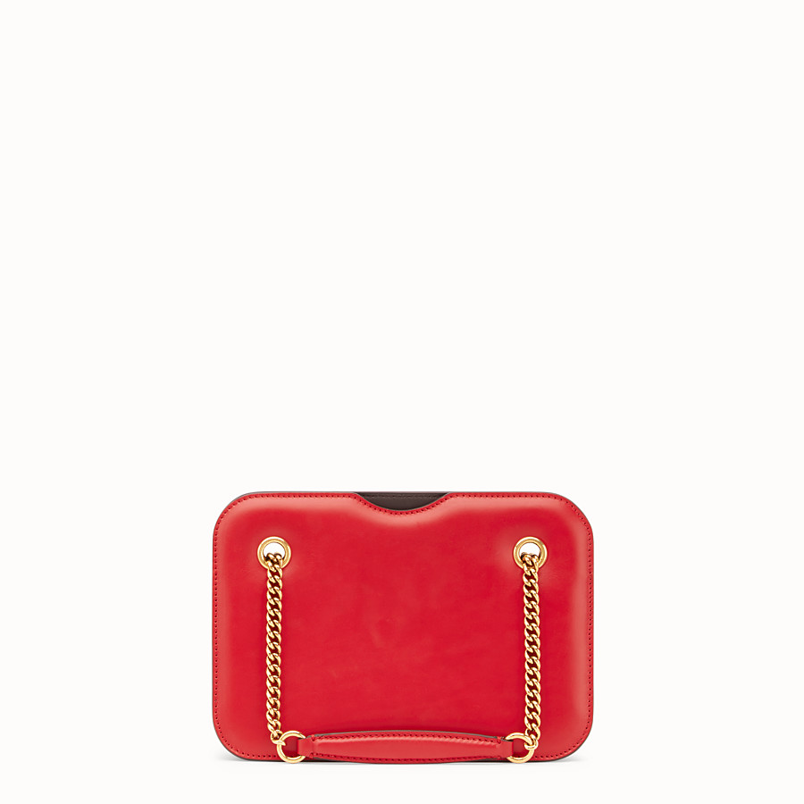 FENDI KARLIGRAPHY POCKET - Red leather bag - view 4 detail