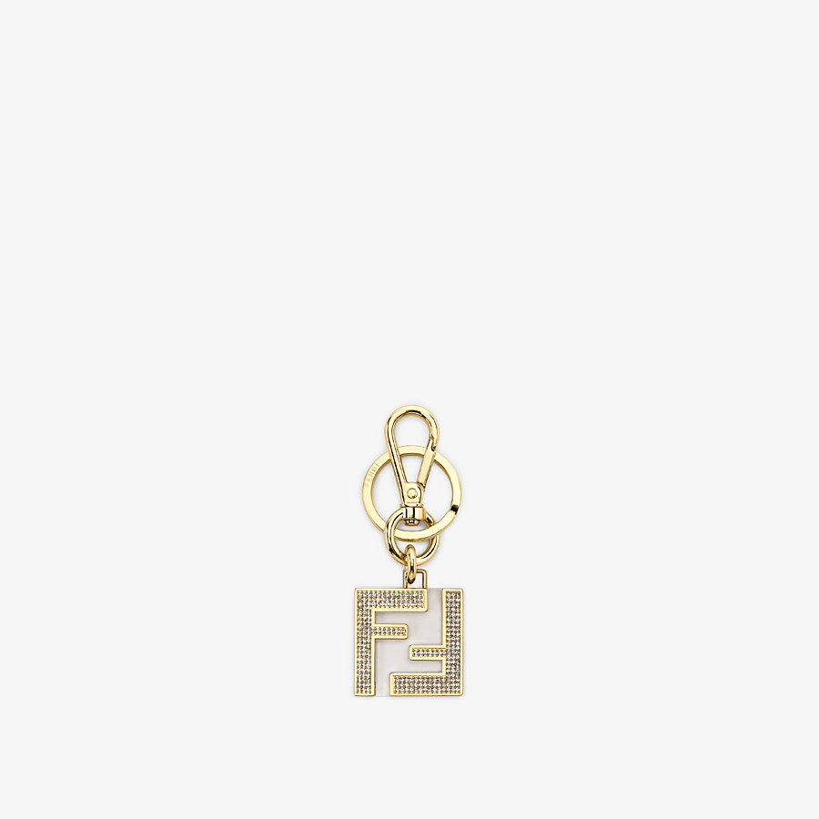 FENDI KEY RING - Golden metal and plexi key ring - view 1 detail
