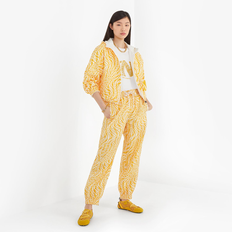 FENDI PANTS - Yellow nylon trousers - view 4 detail