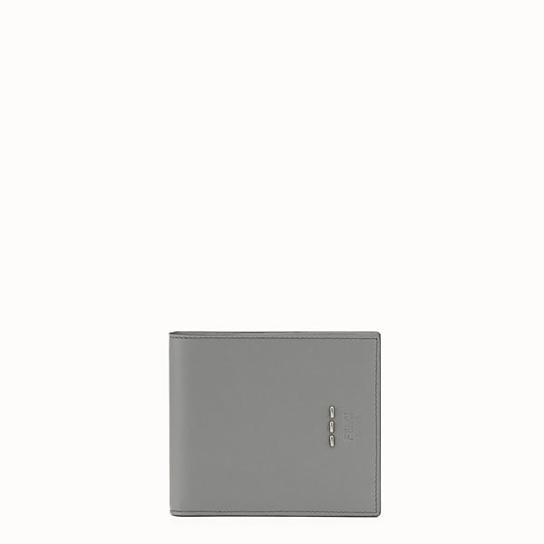 FENDI WALLET - Grey leather bi-fold wallet - view 1 small thumbnail