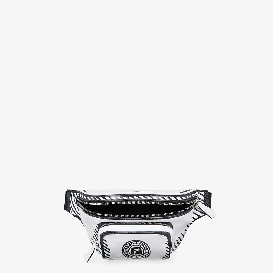 FENDI BELT BAG - White canvas belt bag - view 4 detail