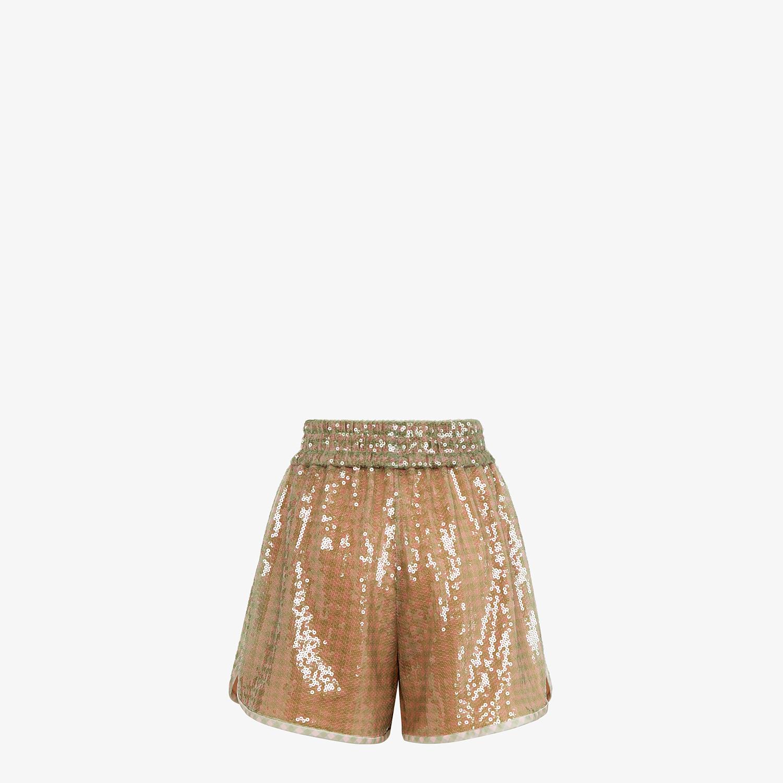 FENDI SHORTS - Check sequin shorts - view 2 detail