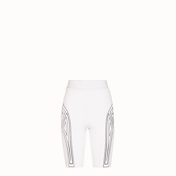 FENDI CYCLIST BERMUDAS - White lycra shorts - view 1 small thumbnail