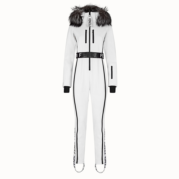 FENDI JUMPSUIT - White tech fabric jumpsuit - view 1 small thumbnail