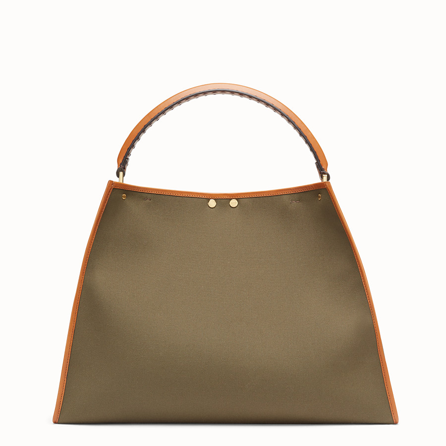 FENDI PEEKABOO X-LITE - Green canvas bag - view 4 detail