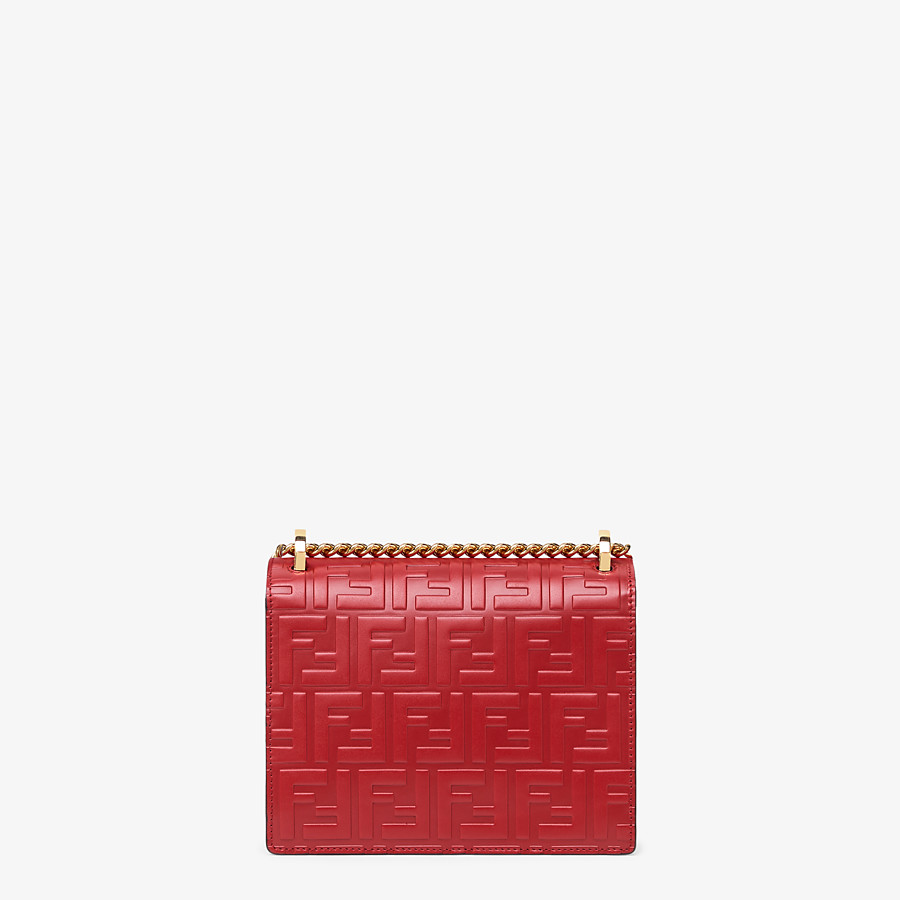 FENDI KAN I SMALL - Red leather mini-bag - view 3 detail