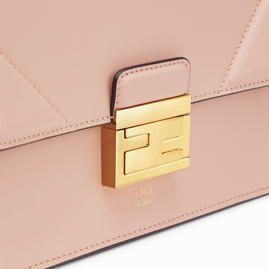 FENDI KAN U SMALL - Mini-Tasche aus Leder in Rosa - view 5 detail