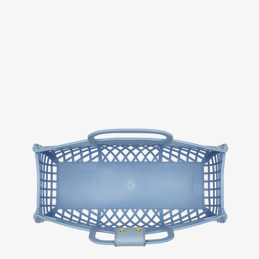 FENDI FENDI BASKET MEDIUM - Light blue recycled plastic mini-bag - view 5 detail
